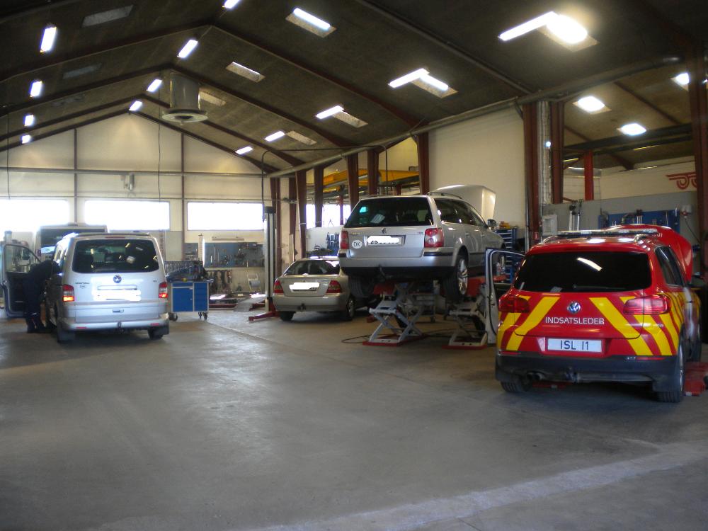 Det mekaniske værksted i Odense Auto-El ApS